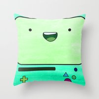 bmo Throw Pillows featuring BMO by Some_Designs
