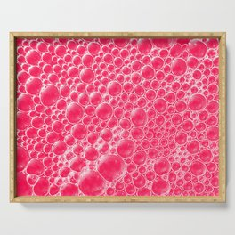 Champagne Bubbles Collection: #5 – Candy Apple Red Serving Tray