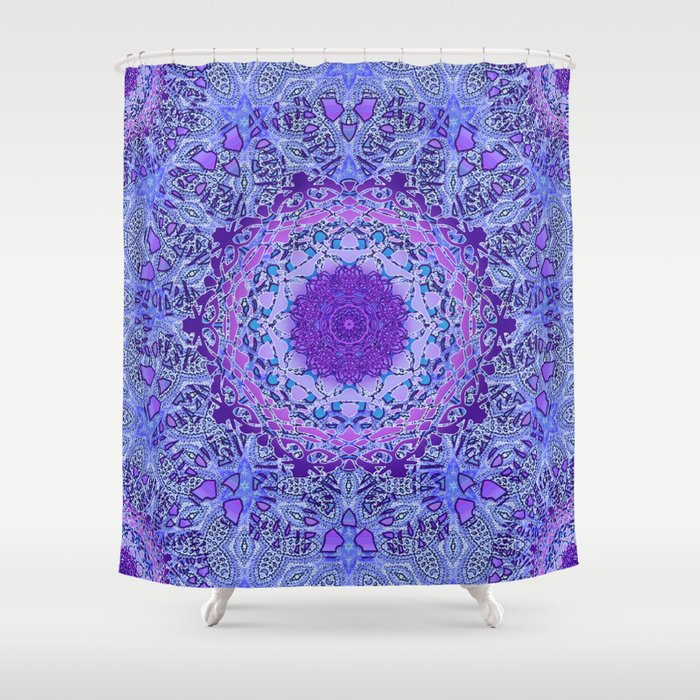 Wisteria Mandala Shower Curtain