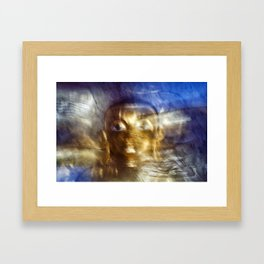 Abstract Buddha Framed Art Print
