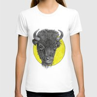 bison T-shirts featuring Bison by Triple_S_Art