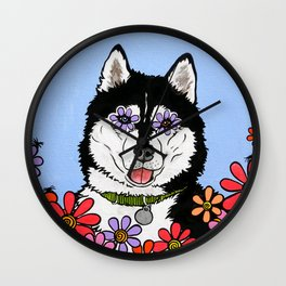 Summit the Husky Wall Clock