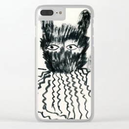 monster & me Clear iPhone Case