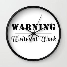 Writer at Work Wall Clock