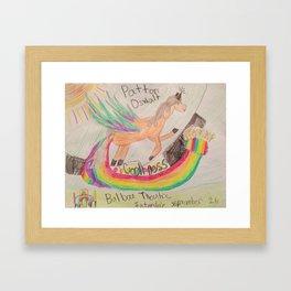 Patton Oswalt Balboa Theatre Rainbow Unicorn Poster Framed Art Print