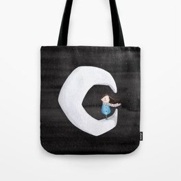 Girl on the Moon Tote Bag