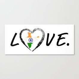 Love India. Canvas Print