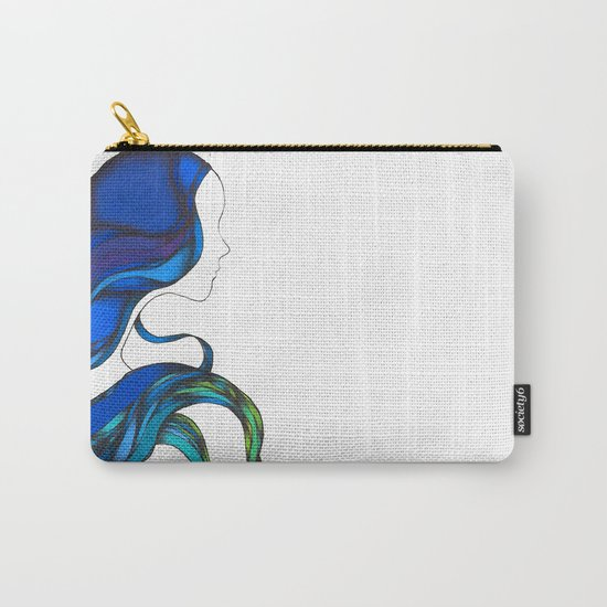 Hair Like the Sea Carry-All Pouch