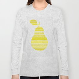 Yellow Pear Long Sleeve T-shirt
