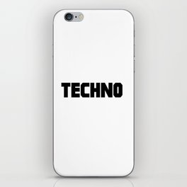 Techno rave music quote iPhone Skin
