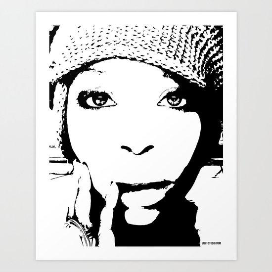 Badu Art Print