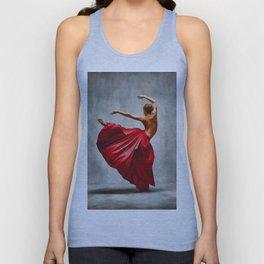 The ballerina - dancing art Unisex Tank Top