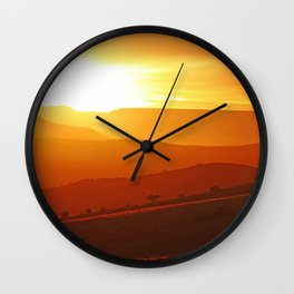 Golden morning in Africa Wall Clock