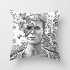 Bowie Goodbye For now Throw Pillow