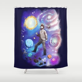 Wherever I May Roam (Space Vagabond) Shower Curtain