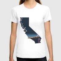 santa monica T-shirts featuring California: Santa Monica Pier by Brooke Loeffler