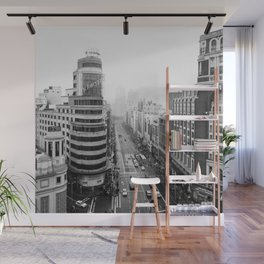 Gran Via in Madrid Wall Mural