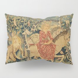 Two Scenes from Der Busant Pillow Sham
