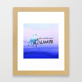Always Deer Framed Art Print