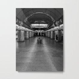 empty metro subway station Metal Print