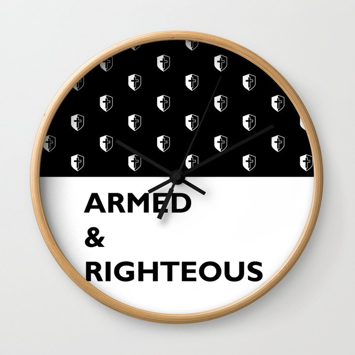 Armed & Righteous Wall Clock