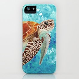Turtle Swimming iPhone Case