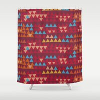 indian Shower Curtains featuring indian by spinL