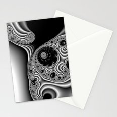 Black and White Fractal 12 Stationery Cards