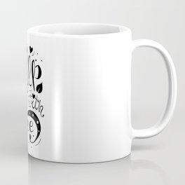 Wake Her Up With Coffee (black and white) Coffee Mug