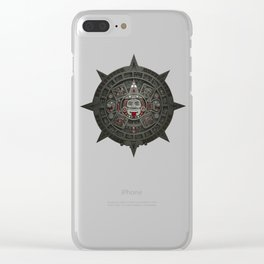 Stone of the Sun I. Clear iPhone Case