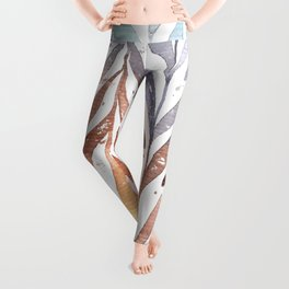 Autumn Leaves in Watercolor Leggings