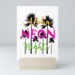 Aloha Neon Nights Hot Tropical Island Luau Party Mini Art Print