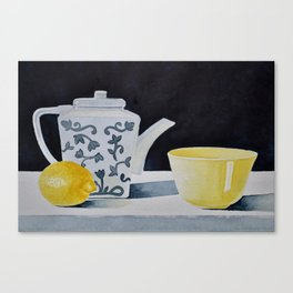 Sunny Lemon Tea Time Canvas Print