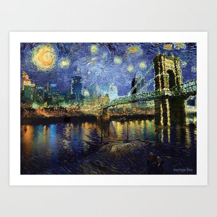 Van Gogh Comes To Cincinnati Art Print By Staceycat Society6