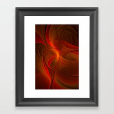 Warmth, Abstract Fractal Art Framed Art Print