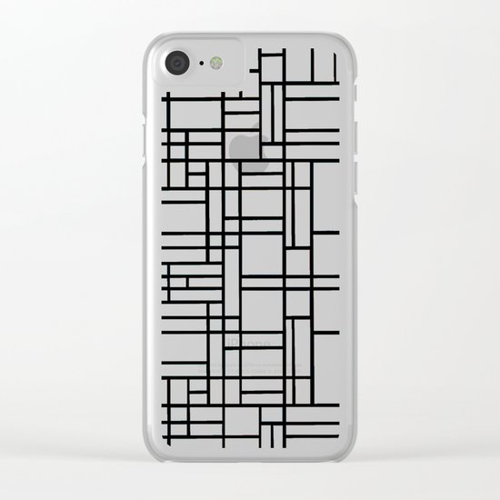 Map Outline Clear iPhone Case