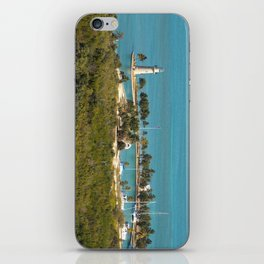 Boca Chita Key and The Miami Skyline iPhone Skin