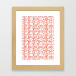 Graphic geometric chevron arrow stripes Framed Art Print