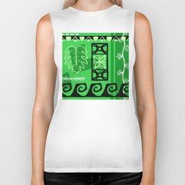 Hawaiian Pattern #1 - green! Biker Tank