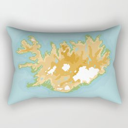 Iceland Retro Pixel Map Rectangular Pillow