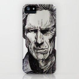Clint Eastwood Pen portrait iPhone Case