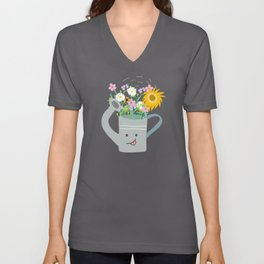 Happy Day- Watering Can Unisex V-Neck