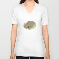 sleeping beauty V-neck T-shirts featuring Sleeping beauty by Dream Of Forest