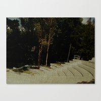 outdoor Canvas Prints featuring Outdoor Auditorium by Losal Jsk