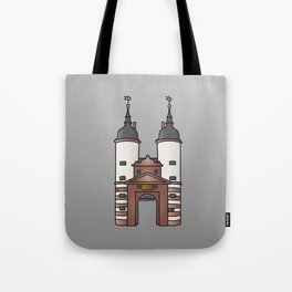 Bridge gate Heidelberg Tote Bag