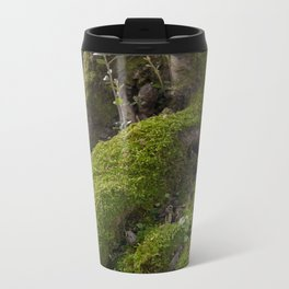 Ancient tree root with moss Metal Travel Mug