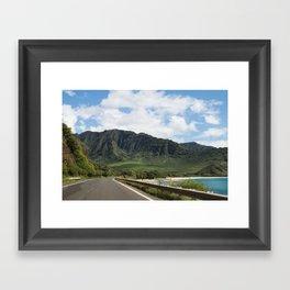 Mountain Road in Oahu, Hawaii Framed Art Print