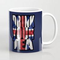 british flag Mugs featuring Tea / British by tshirtsz