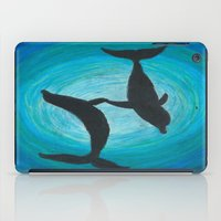 dolphins iPad Cases featuring Dolphins by MandiMccl