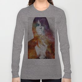 Girl spitting into space. Long Sleeve T-shirt